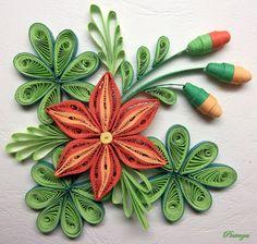 Quilled flowers by pinterzsu on DeviantArt