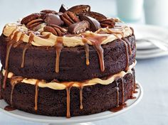 Enjoy this cake made with Betty Crocker® SuperMoist® cake mix and frosting – a delicious chocolate dessert.