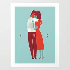 HUG ME Art Print by Al Garcia - $17.00