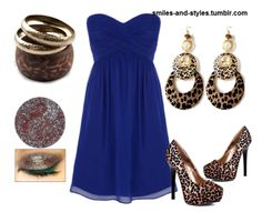 blue and cheetah outfit...cute with a jacket or cardigan :)