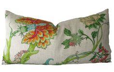 Decorative Designer Jacobean Floral Pillow Cover by MakingFabulous, $38.00