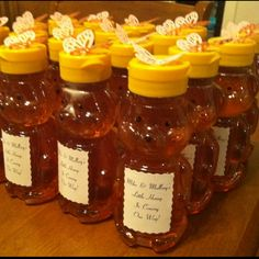 Baby Shower favors (Winnie the Pooh themed)....so cute an easy favor idea too if ur on a tight budget too food for thought lol