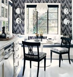 Cool black and white kitchen