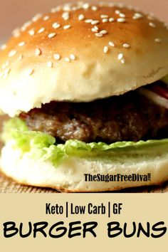 Make these easy and yummy buns for your next barbecue or picnic gathering. This is how to make great tasting Low Carb Gluten Free Buns Keto Buns For Burgers, Low Carb Burger Buns, Keto Burger, Low Carb Bun, Low Carb Keto, Low Carb Recipes, Healthy Recipes, Bread Recipes, Easy Gluten Free Recipes
