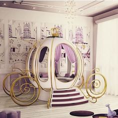 Princess room with carriage bed☻