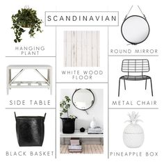 """Scandinavian"" by c-silla ❤ liked on Polyvore featuring interior, interiors, interior design, home, home decor, interior decorating, Gubi, Flamant, Nearly Natural and Bloomingville"