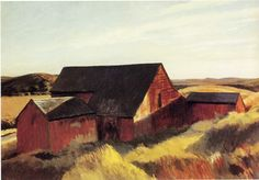 "Edward Hopper -    ""Cobb's Barns, South Truro"",       1933"