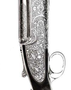 Engraved Purdey Shotgun