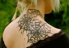 oh so pretty spider web tattoos