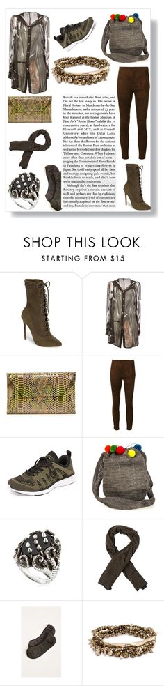 """Someone with great style"" by emmamegan-5678 ❤ liked on Polyvore featuring Steve Madden, Ann Demeulemeester, Oliveve, Ralph Lauren Collection, Athletic Propulsion Labs, Muzungu Sisters, KD2024, Faliero Sarti, Madewell and Kendra Scott"