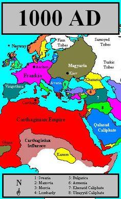 The Second Carthaginian Empire World History Map, European History, European Royal Family Tree, Royal Family Trees, General Knowledge Facts, History Classroom, Alternate History, Historical Maps, African History