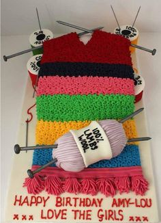 A Knitted Cake.