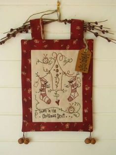 A Whimsical Gift - by Cinderberry Stitches - Stitch Pattern - $15.00 : Fabric Patch, Patchwork Quilting fabrics, Moda fabric, Quilt Supplies, Patterns