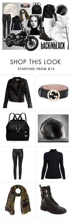 """""""Back In Black"""" by classicstyle4u ❤ liked on Polyvore featuring Zara, Gucci, MICHAEL Michael Kors, Balenciaga, Rumour London and Giuseppe Zanotti"""