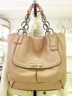 dd7b58674d6 fashion Michael Kors online outlet, Large discount Michael Kors handbags on  www.HotSaleClan com, Coach Kristin tote in shell pink.