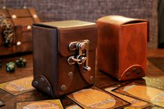 Custom Standard Leather Deck Box  Trading by VestriProductions