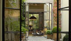 Gorgeous patio at Hotel Julien Antwerp
