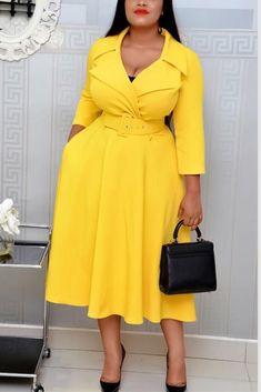 Fashion Sexy Long Sleeve Yellow Dress Yellow Long Sleeve Dress, Yellow Dress, Golden Dress, Yellow Fashion, Dress For Short Women, Buy Dress, Women's Fashion Dresses, Pattern Fashion, Womens Fashion