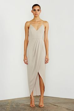 Shona Joy // CORE COCKTAIL DRESS - OYSTER