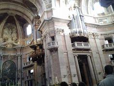 Órgãos na Basílica do Palácio Nacional de Mafra