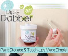 Dipsy Dabber - Paint touch up and storage.  Paint Organization. Paint Supplies.