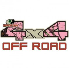 4x4 Off-Road Style Mossy Oak Decal-Break-up Pink® - Pink