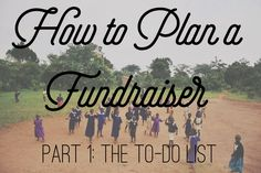 How to plan a fundraiser dinner and silent auction with to-do list.