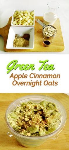 Oats? Boring? Try this unique and delicious combo and see how it changes your mind. The matcha green tea not only acts as flavoring but is also a nutrientdense superfood and an all-natural coffee alternative. With matcha, energy and concentration are stabilized over 46 hours with none of the jittery side effects, headaches, or crashes normally associated with coffee. Try it! http://www.matchamax.com/pages/matcha-green-tea-apple-cinnamon-overnight-oats
