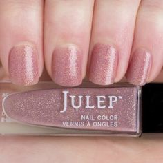 Julep - Tanith (Classic with a Twist) warm putty with gold microglitter (from Jan 2015 mystery box)