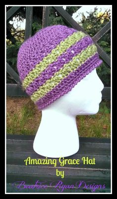 Amazing Grace Hat was designed as a Charity Crochet Hat Free Pattern. In honor Breast Cancer Awareness. . Materials: Worsted Weight Yarn 160 yards. (Full Skein is 315 yards) Shop for your yarn needs at Michaels Craft Store Online!! Affiliate Link  Hook Size: H Gage: 8 HDC x 5 Rows = 2″ x 2″ Level:  Easy Stitches: St – Stitch   Sl St – Slip Stitch  Ch – Chain  Sc – Single Crochet HDC – Half Double Crochet DC – Double Crochet Reverse Sc(Work a single crochet in the opposite…