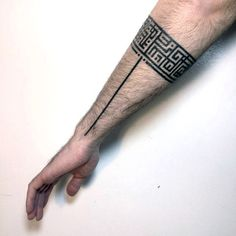 Unique Tribal Pattern Armband Tattoos For Guys