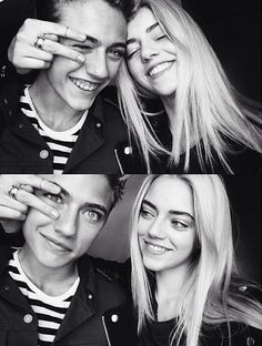 Lucky Blue Smith & Pyper America Back when bae was a wee babe. jee did the sexy just hit him with a truck one day and bam XD