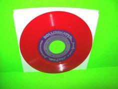 """John Emmons - Rollerskate 1979 RED Vinyl 7"""" 45 Record RARE M&M Myers…"""