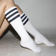 love stripe athletic socks