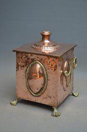 antique copper items stylish edwardian copper coal