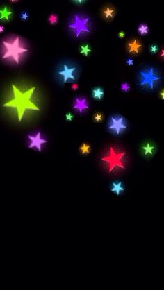 Wallpaper Multi Stars Black