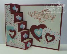 Debbie's Designs: Free Friday's-Valentine's Vertical Step Card!