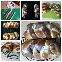 Skvelá vianočka -moja verzia dvojfarebná Hot Dog Buns, Hot Dogs, Bread, Food, Basket, Brot, Essen, Baking, Meals