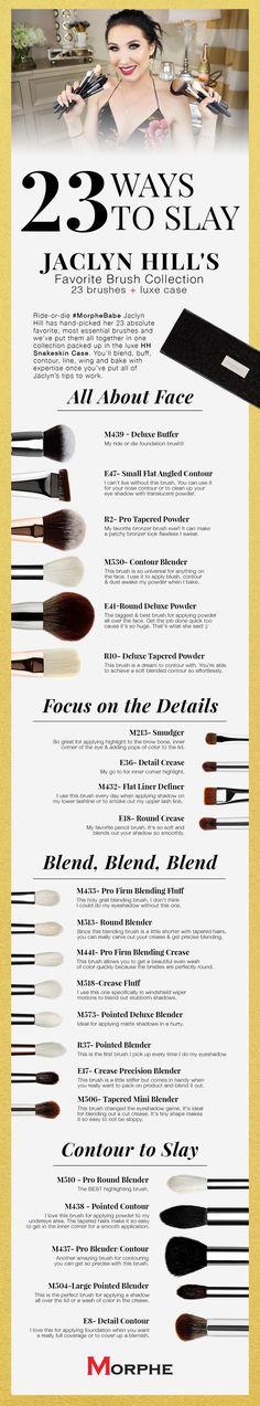 JACLYN HILL'S FAVORITE BRUSH COLLECTION | Morphe Brushes |> More Info: | makeupexclusiv.blogspot.com |