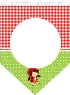 Red Riding Hood Party, Red Ridding Hood, Bunting Flags, Baby Prints, Classroom Themes, Silhouette Projects, Paper Cards, Little Red, Party Printables