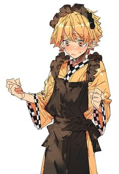 Twitter Anime Boys, Cute Anime Boy, Maid Outfit Anime, Anime Maid, Demon Slayer, Slayer Anime, Guys In Skirts, Cute Boys, Anime Characters