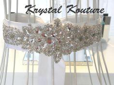 Stunning Crystal Bridal Sash