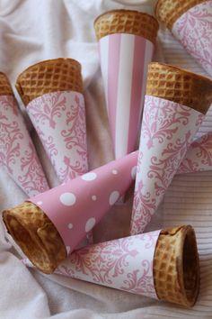 26 eco pages             : Φτιάξτε  χειροποίητα χωνάκια παγωτού