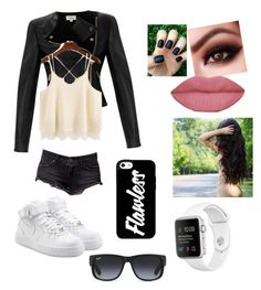 Black widow by olghetta30 on Polyvore featuring polyvore, fashion, style, Temperley London, Volcom, NIKE, Ray-Ban and clothing