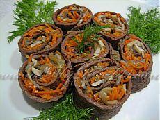 Рулетики из печени с грибами | Ваши любимые рецепты