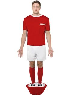7f73e0b6c6 SUBBUTEO Red Strip Football Adult Mens Smiffys Fancy Dress Costume - Large  for sale online