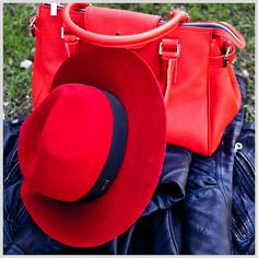 Red & Black hat by HatHat