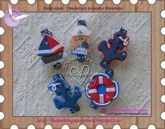 Lembrancinha de Maternidade - Marinheiro - prendedor decorado com imã