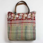This kind of bag is next project - leather handles carrying a carpet bag.