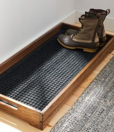 diy furniture Find the best Everyspace Recycled Waterhog Boot Mat at . Our high quality home goods are designed to help turn any space into an outdoor-inspired retreat. Diy Holz, Home Organization, Home Storage Ideas, Organizing Ideas, Diy Storage Projects, Woodworking Organization, Sweet Home, New Homes, Boot Tray
